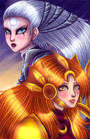 Leona and Diana by aisaczek