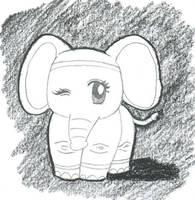 elephant by jessishtranish