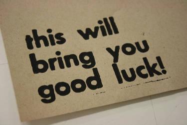Good Luck by blondesRsnart