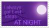 Best ideas at night -Stamp- by nemekke