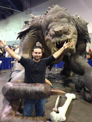 Me vs. Rancor - Rhode Island Comic Con 2013 by djcos25