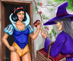 Snow White and the Witch - Color by EMSTURIAO
