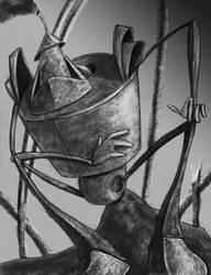 Tin man Sitting by black-alex