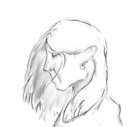 Female Face Profile by Superfluidity