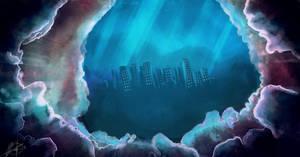 underwater city by Jruva