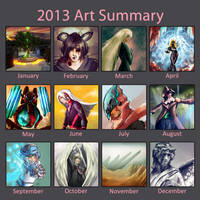 2013 art summary by Jruva