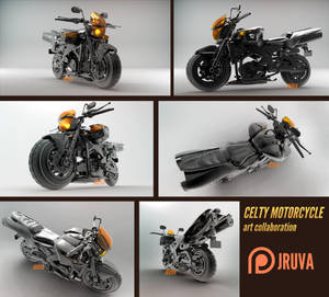 Durarara- Celty Motorcycle 3D by Jruva