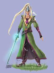 DnD High Elf Redesign: Kainos the Bladesinger by Jruva
