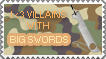 Villains With Big Swords Stamp by sabrelupe