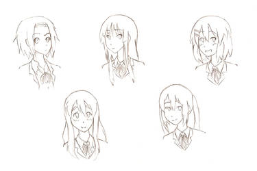 K-ON Girls Sketch by Marianamqb
