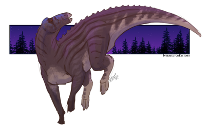 Dinovember day 9 Edmontosaurus by InterfectorFactory