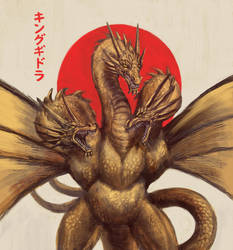 King Ghidorah by ByoWT