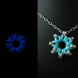 Glow in the Dark Nova Pendant by redpandachainmail