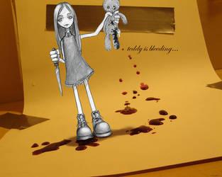 mommy...  teddy is bleeding by biostm