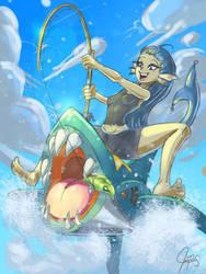 Sharpedo Fishin' by chrisTULA092