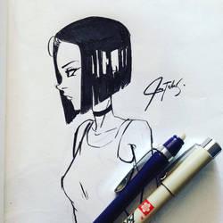 Brush Pen practice by chrisTULA092