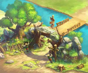 The village gate by DaleComte