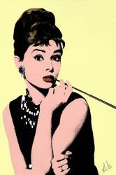 Audrey Hepburn by HerrOwley