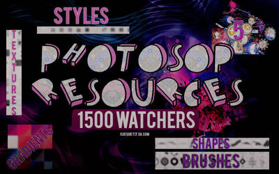 +PHOTOSHOP RESOURCES | 1.500 WATCHERS by ISatQuietly