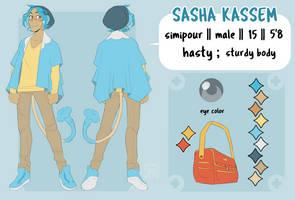 Sasha - Reference Sheet by justsnooze
