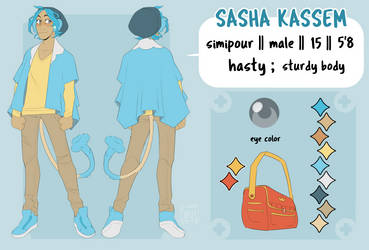 Sasha - Reference Sheet by justsnooze