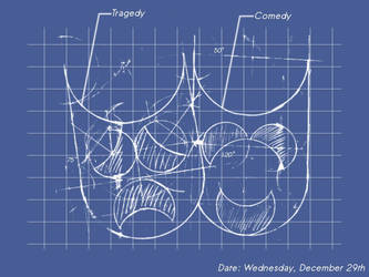 Comedy and Tragedy Blueprint by kcaze