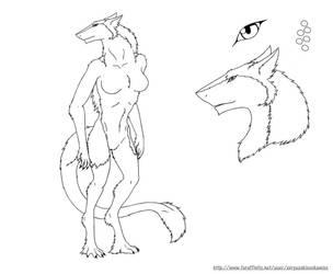 Free.To.Use.Ref-Northern Sergal-Female by xXRyuzakixOokamiXx