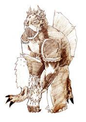 Kaiju [Sketch] by denai1