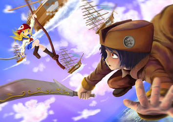 Playing Pirate!! by denai1