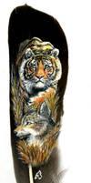 tiger and jackal by meeko-okeem