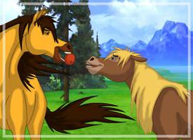 a kiss ... by meeko-okeem