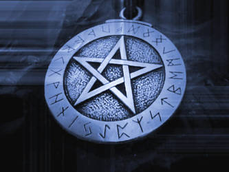 Runic Pentacle - Midnight Blue by Lancaid