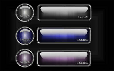 Glass Brushed Metal Button Bar by Lancaid