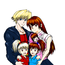 Family picture of Kazuma and Takuma by s0ph14luvukn0w
