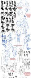 Robot Designs - Maya by Quarter-Virus