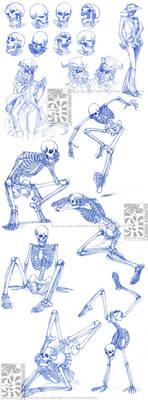 Skeletal Sketchdump by Quarter-Virus