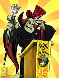 Sloth For President 2014 by Quarter-Virus