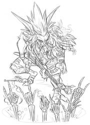 Twitch Request: Heavy Metal Troll by Quarter-Virus