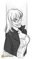 Sketch Raffle - Alcione for Sunny Desolier by Quarter-Virus