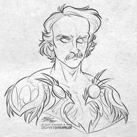 Patron Reward: Edgar Poe for Elizabeth Cappelano by Quarter-Virus