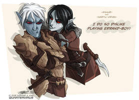 Ashur and Naryu by Quarter-Virus
