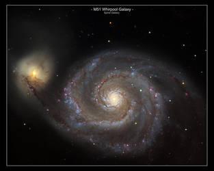 M-51 Whirpool Galaxy by MilchstrabeSTern