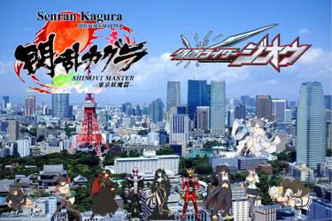 Senran Kagura Shinobi Master X Kamen Rider Zi-O by TriadSentuary