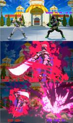 Lord Drakkon vs Kamen Rider Genm by TriadSentuary