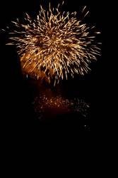 Fireworks by decalcomanie
