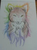 Watercolor wolf by DorkWolf-Nightmare