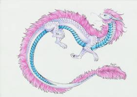 :. Pride Dragons + Transgender Pride .: by DorkWolf-Nightmare