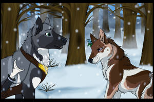 WD  Ava   Meeting under the falling snow by DancingOrbi