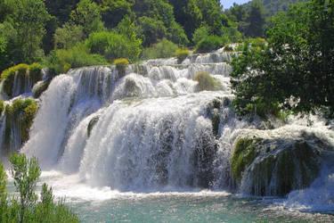 Croatia summer waterfall by Goodilin