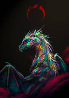 Opal dragon by LuckyTraveller